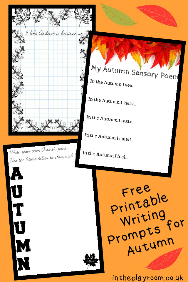 Free Printable Autumn Fall Writing Prompts for Kids