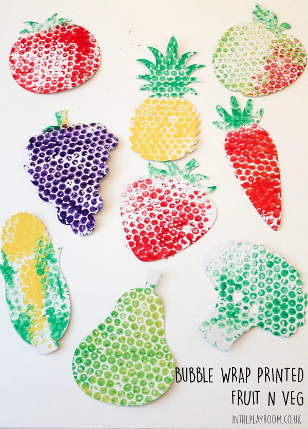 Bubble Wrap Printed Fruit & Veg - In The Playroom