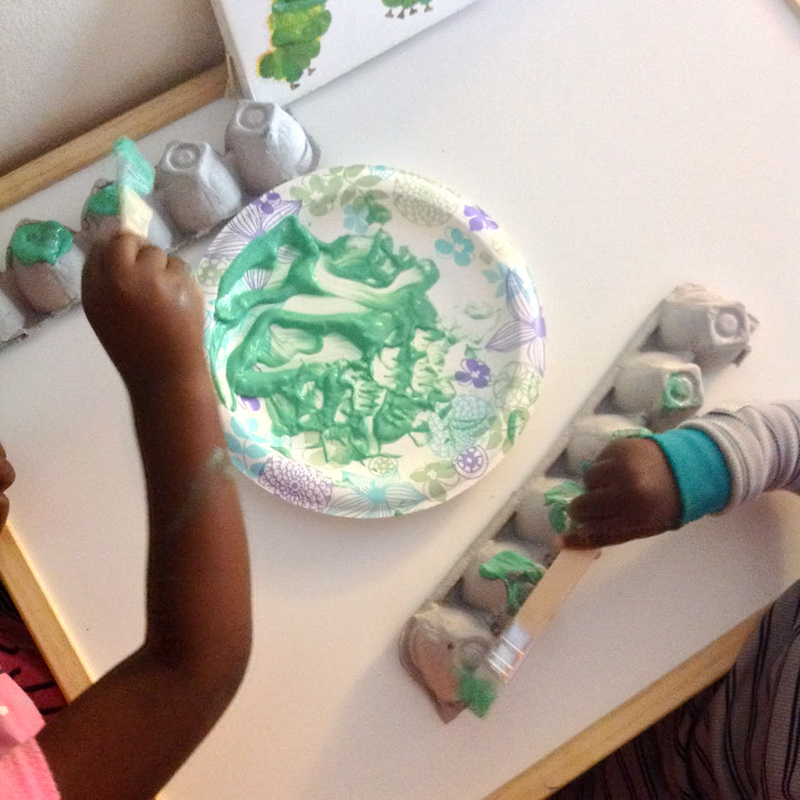The Very Hungry Caterpillar Egg Carton Craft In The Playroom
