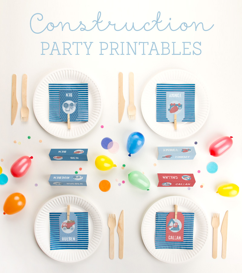 Free Printables for a Construction Party