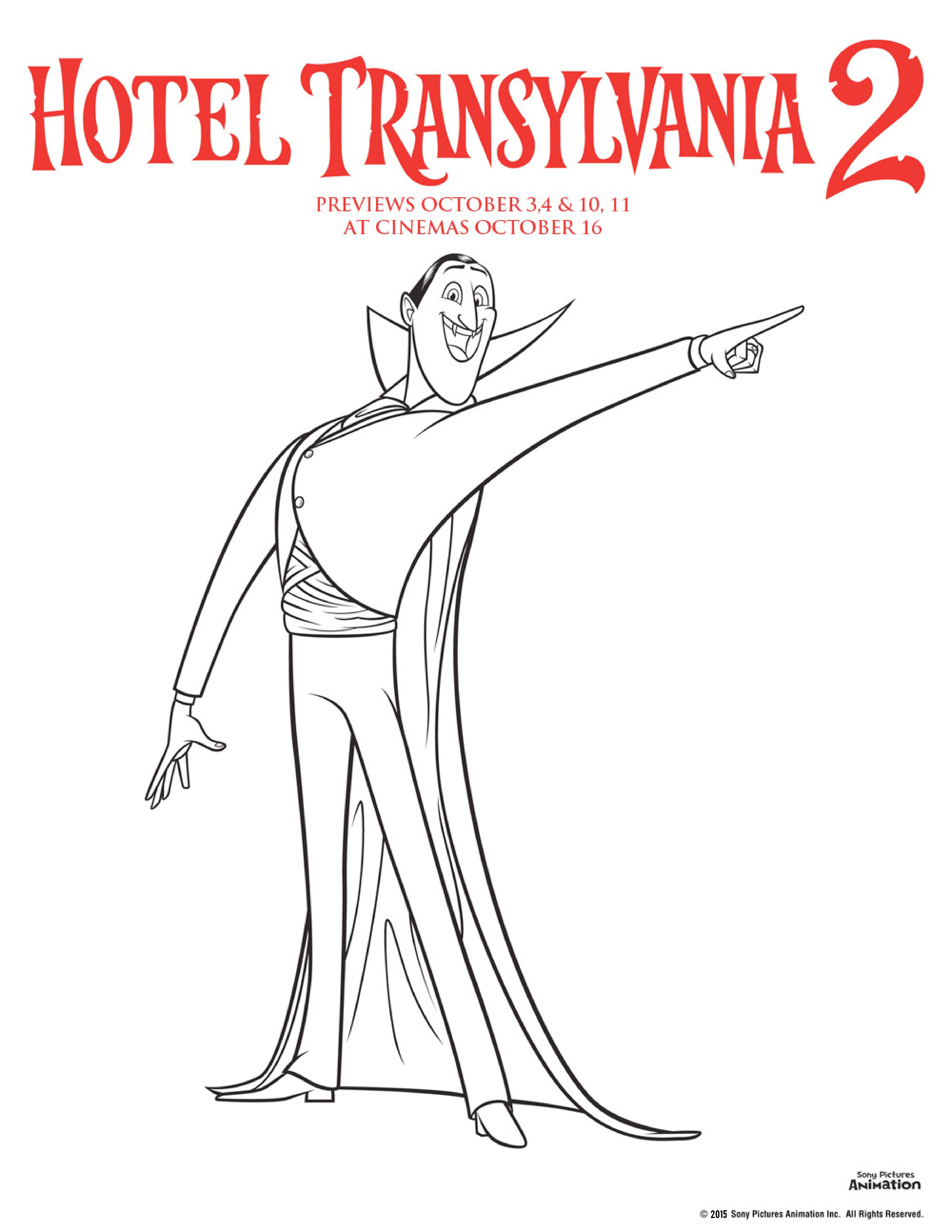 Hotel transylvania colouring pages in the playroom - Coloriage vampire ...