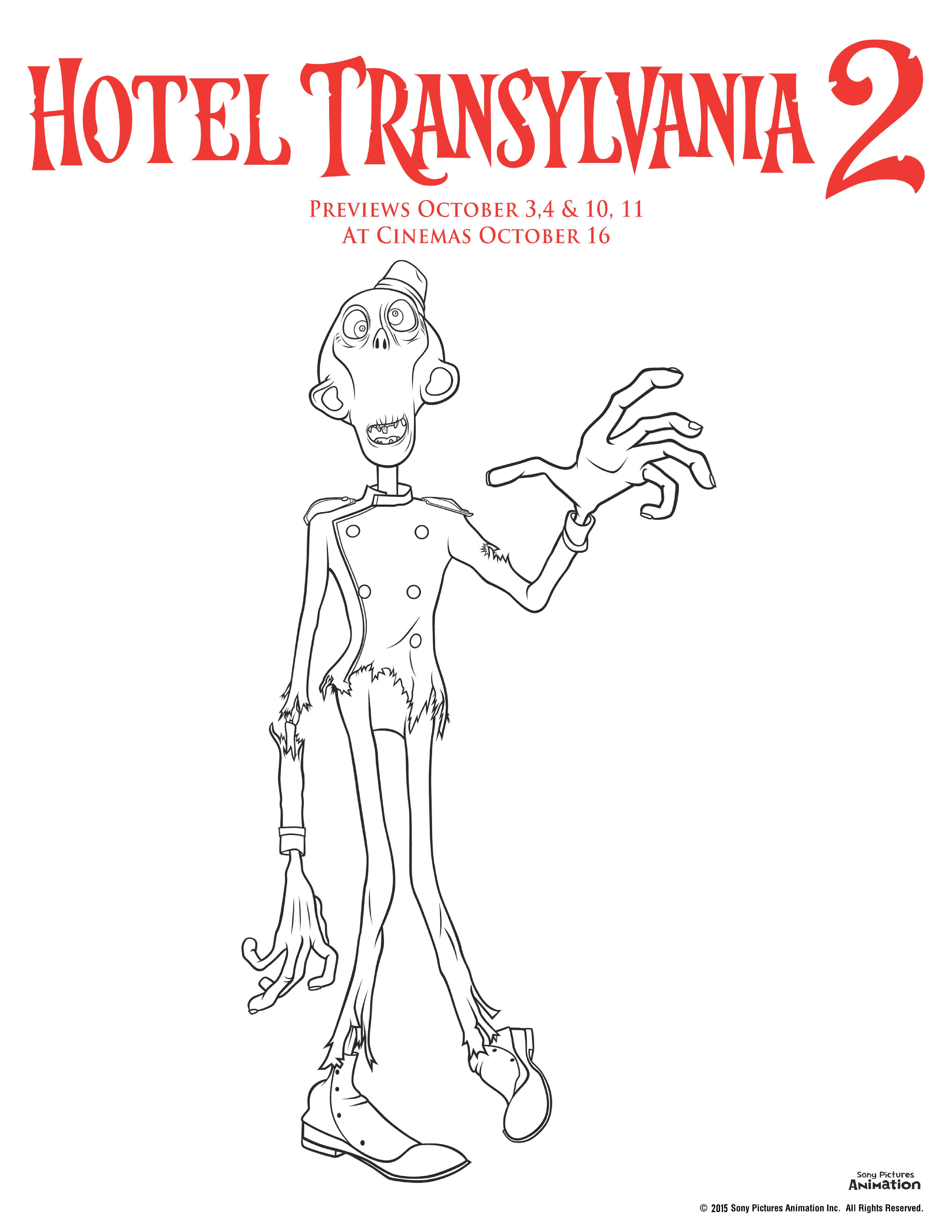 Hotel Transylvania Colouring Pages - In The Playroom