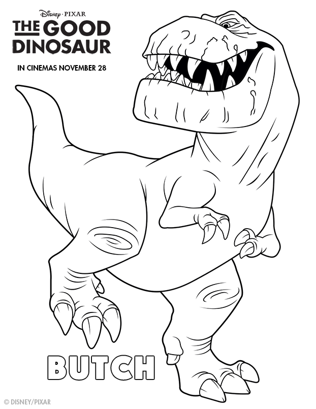 The Good Dinosaur Colouring Pages - In The Playroom