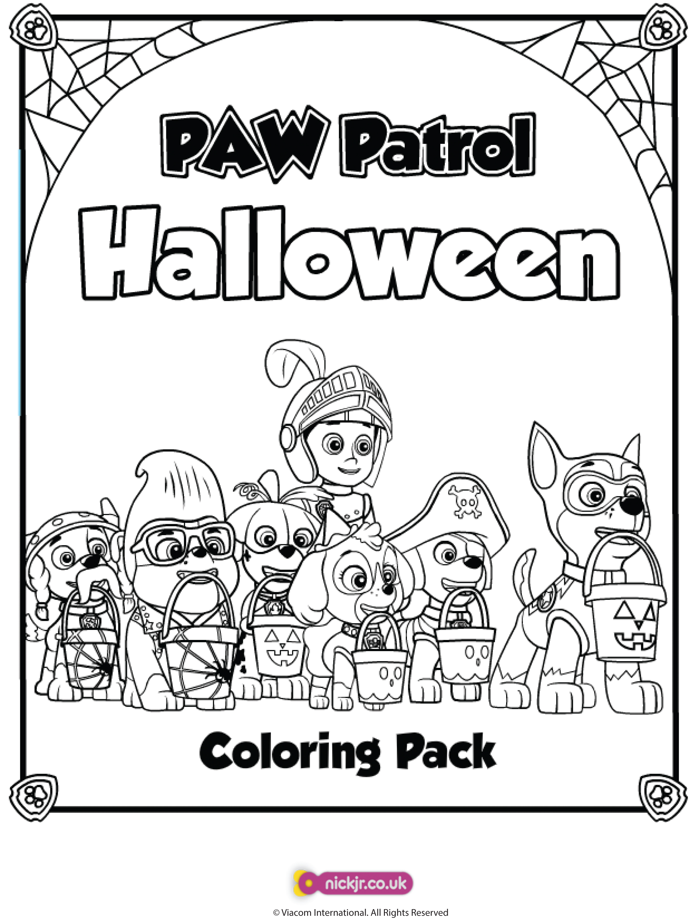 Paw Patrol Halloween Coloring Pack
