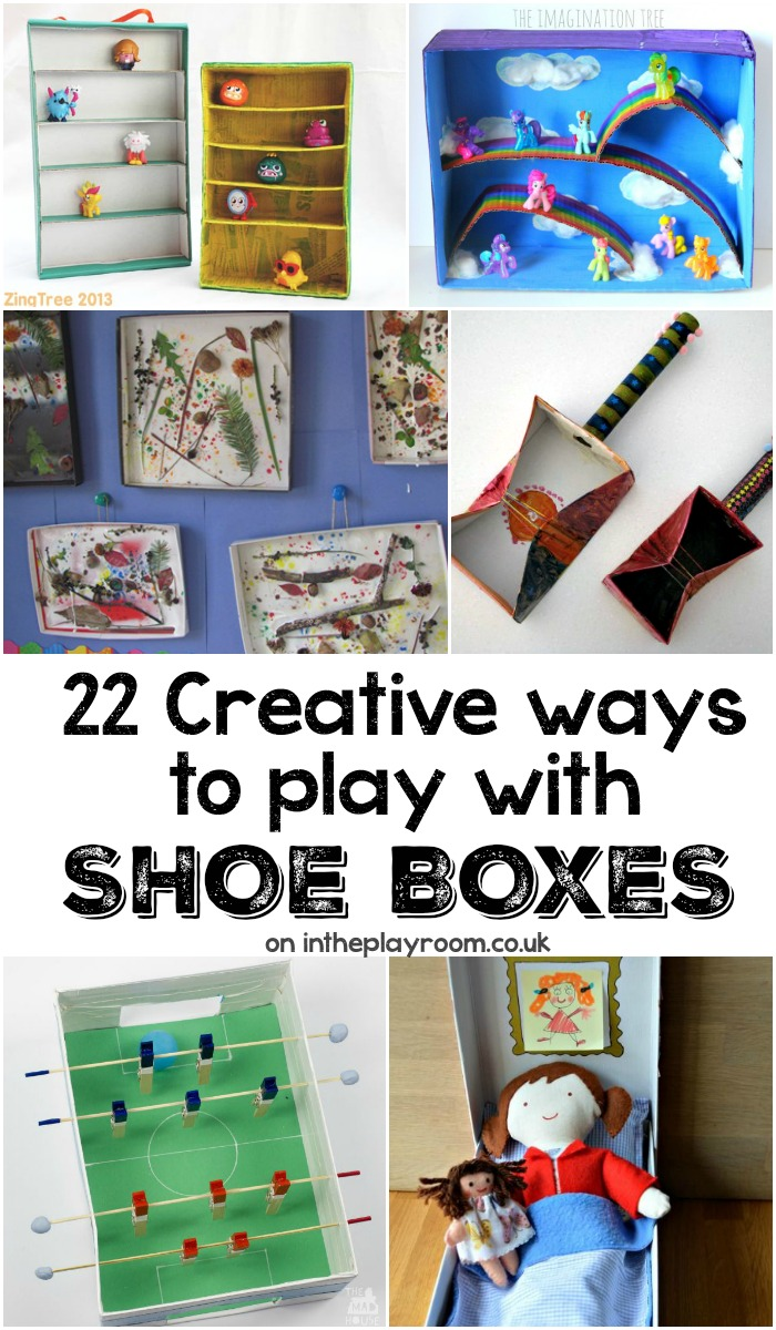 Creative ideas to make with cardboard shoe boxes in the for Reuse shoe box ideas