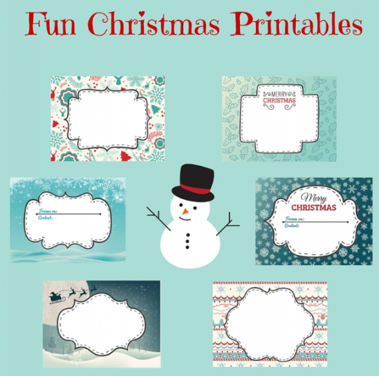 Free Printable Christmas Labels
