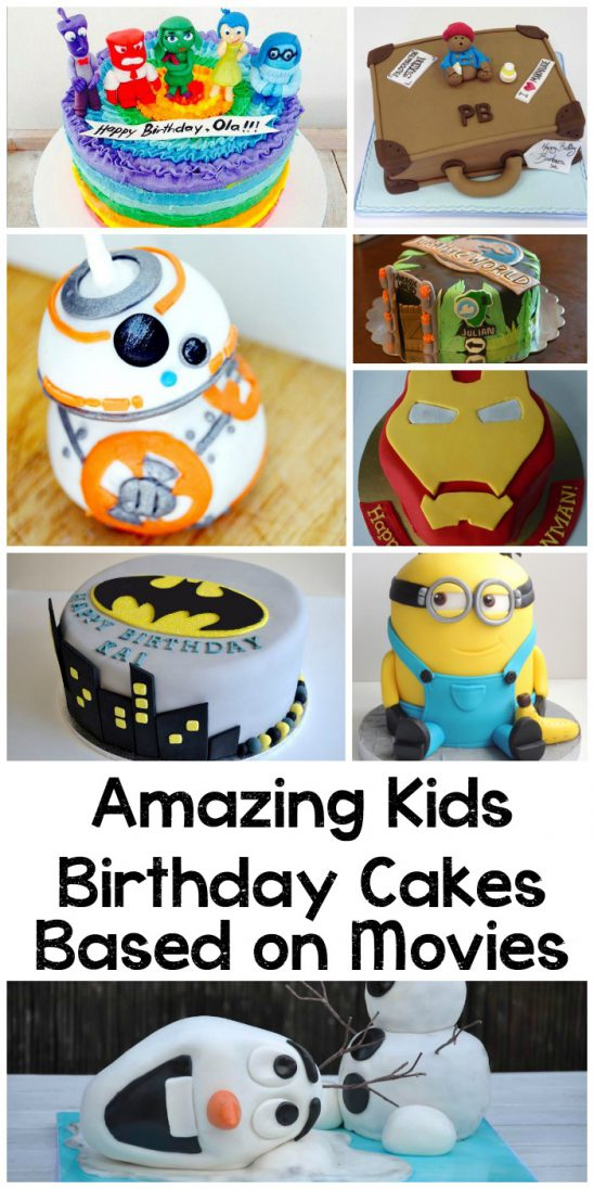 10 Amazing Kids Birthday Cakes Based on Movies