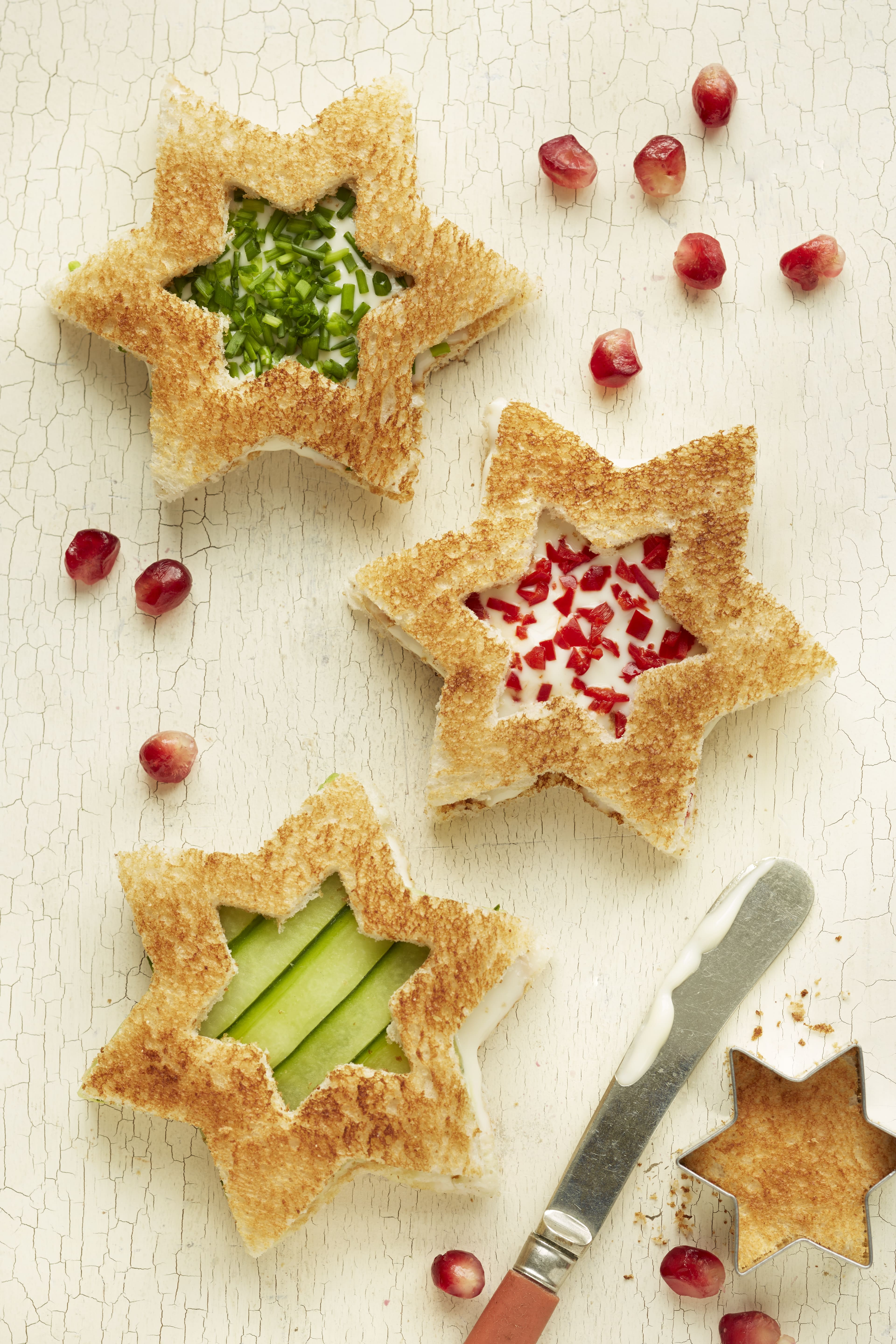 Christmas Star Sandwiches In The Playroom