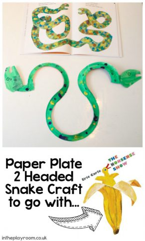 Two Headed Paper Plate Snake Craft to go with Eric Carle's The Nonsense Show