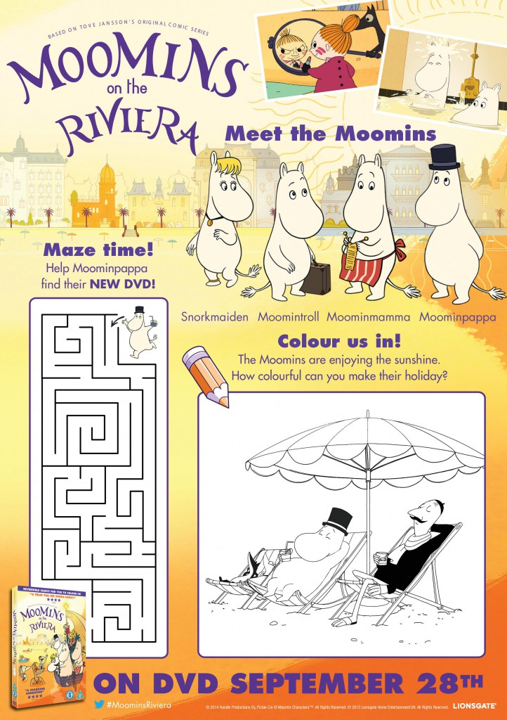 Moomins Printable Activity Sheets