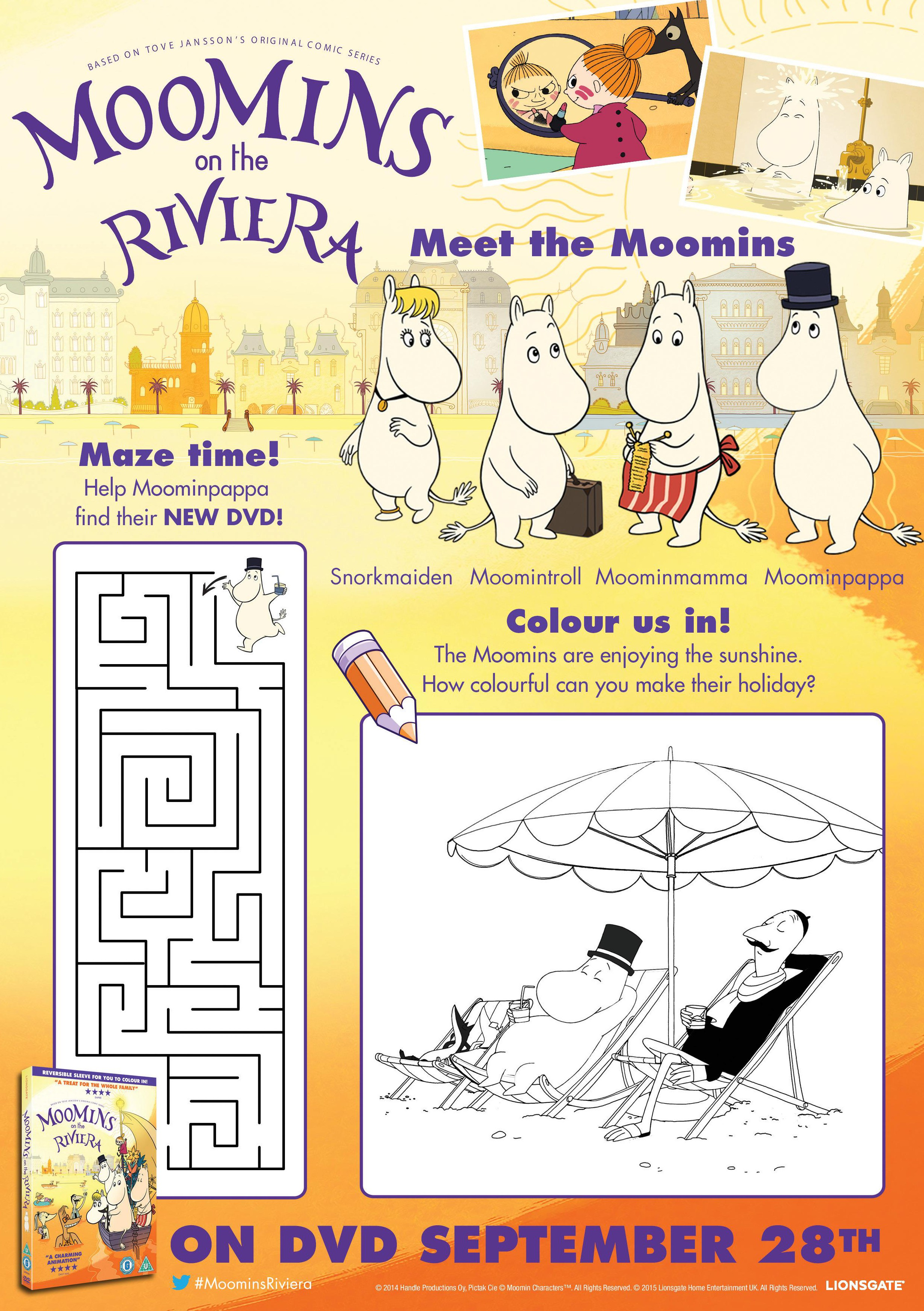 Moomins Printable Activity Sheets