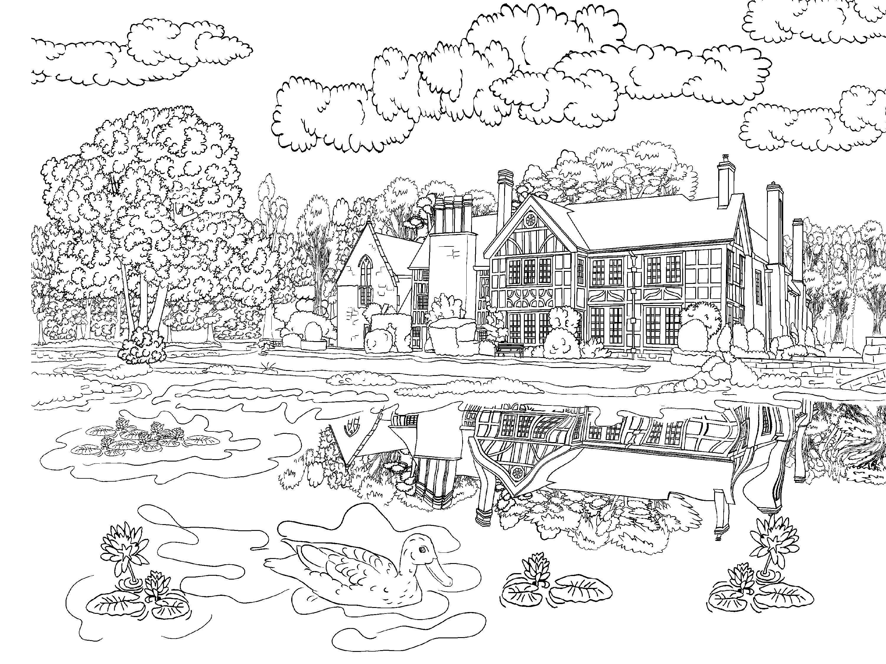 Beautiful Scenery Colouring Pages In The Playroom