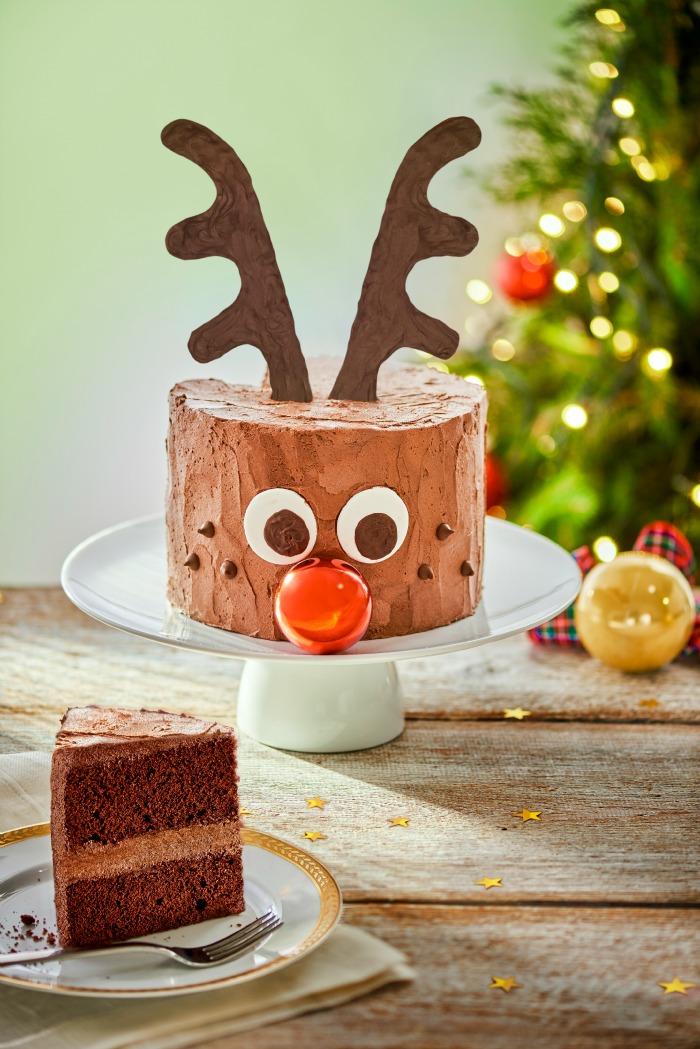 Chocolate Rudolph Cake