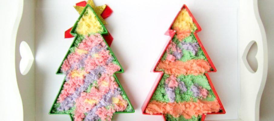 Coloured Salt Christmas Trees