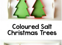 Coloured Salt Christmas Tree