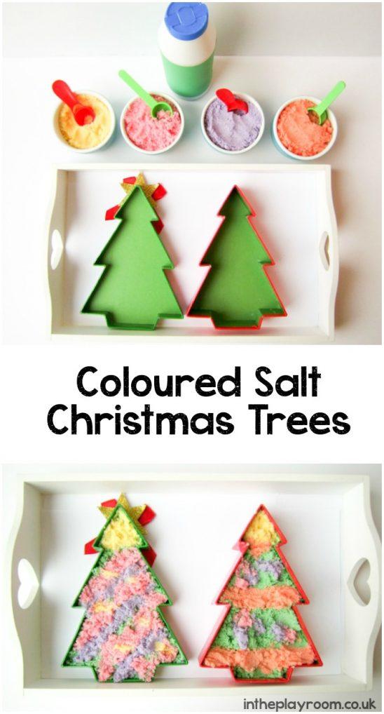Coloured Salt Christmas Tree