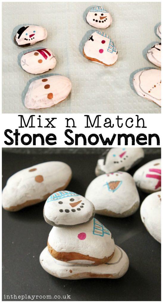 Mix n Match Stone Snowmen