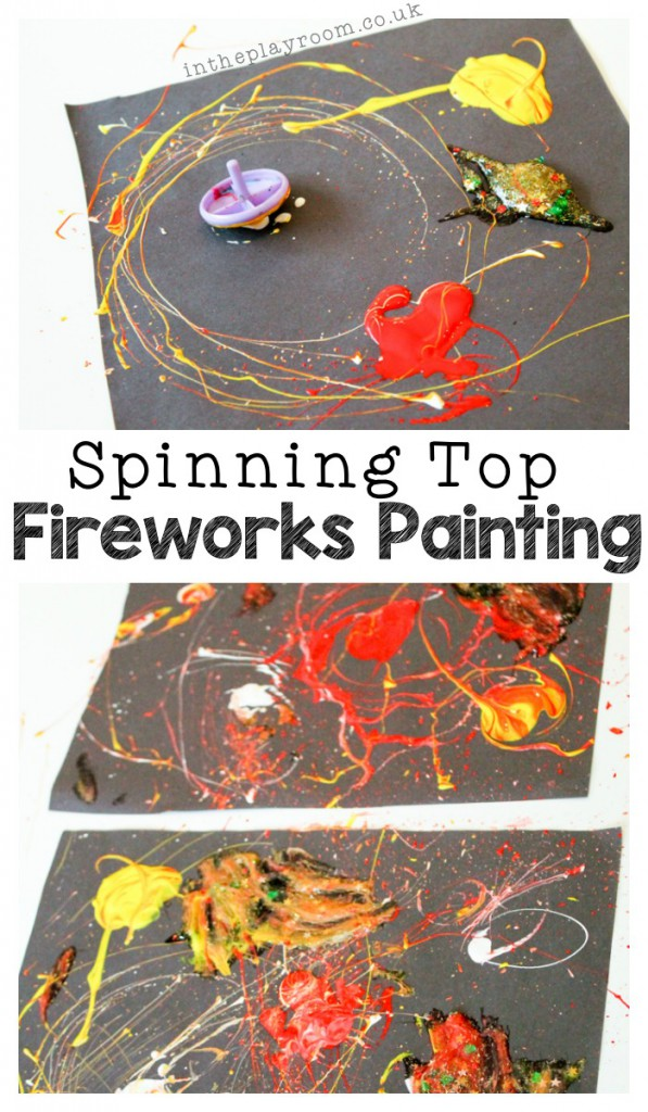 Spinning Top Fireworks Painting