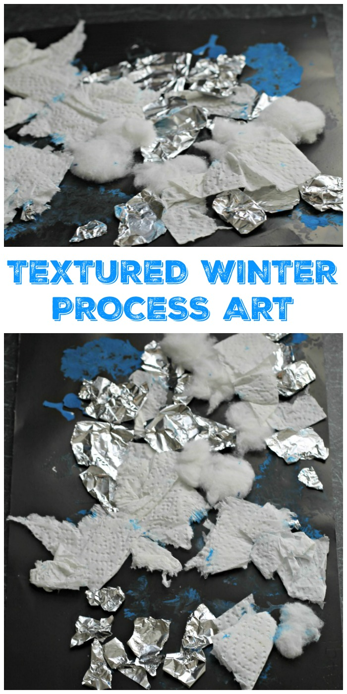 Textured Winter Collage Craft In The Playroom