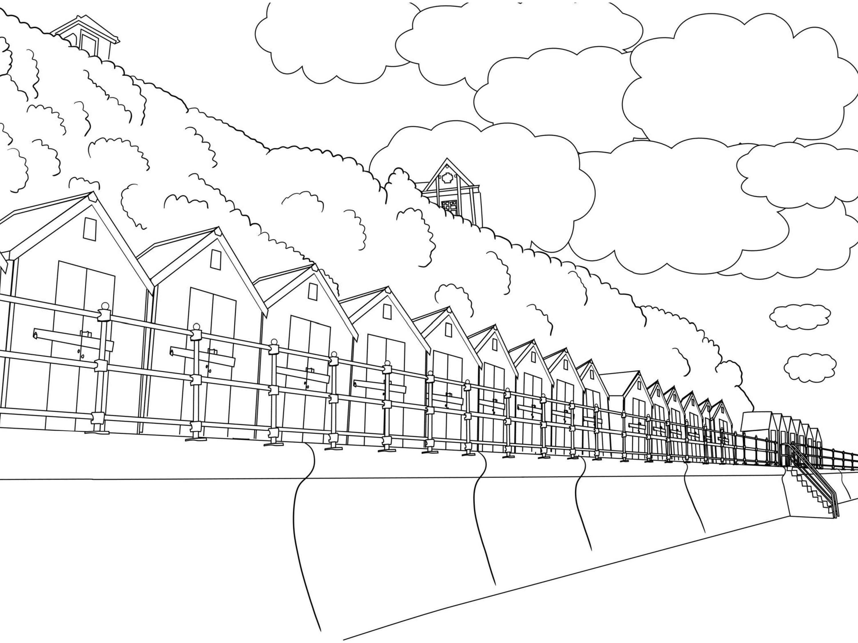kids coloring pages scenery painting - photo#24