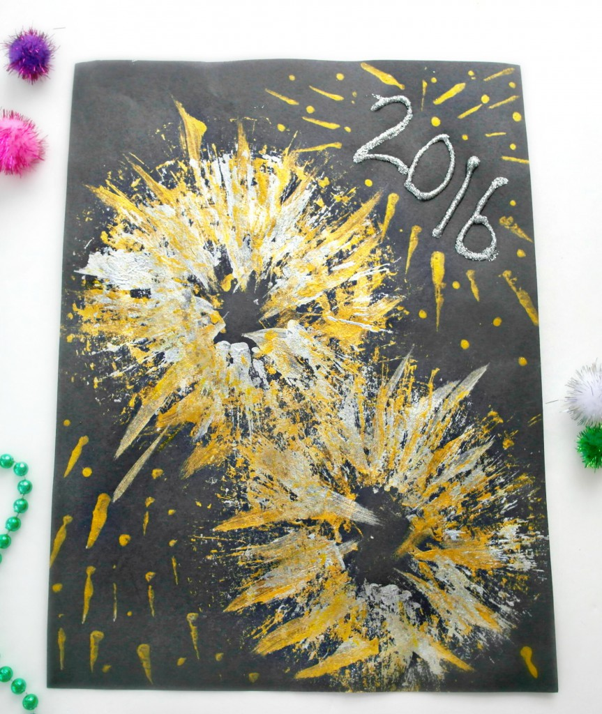 New Year's Eve Fireworks Craft