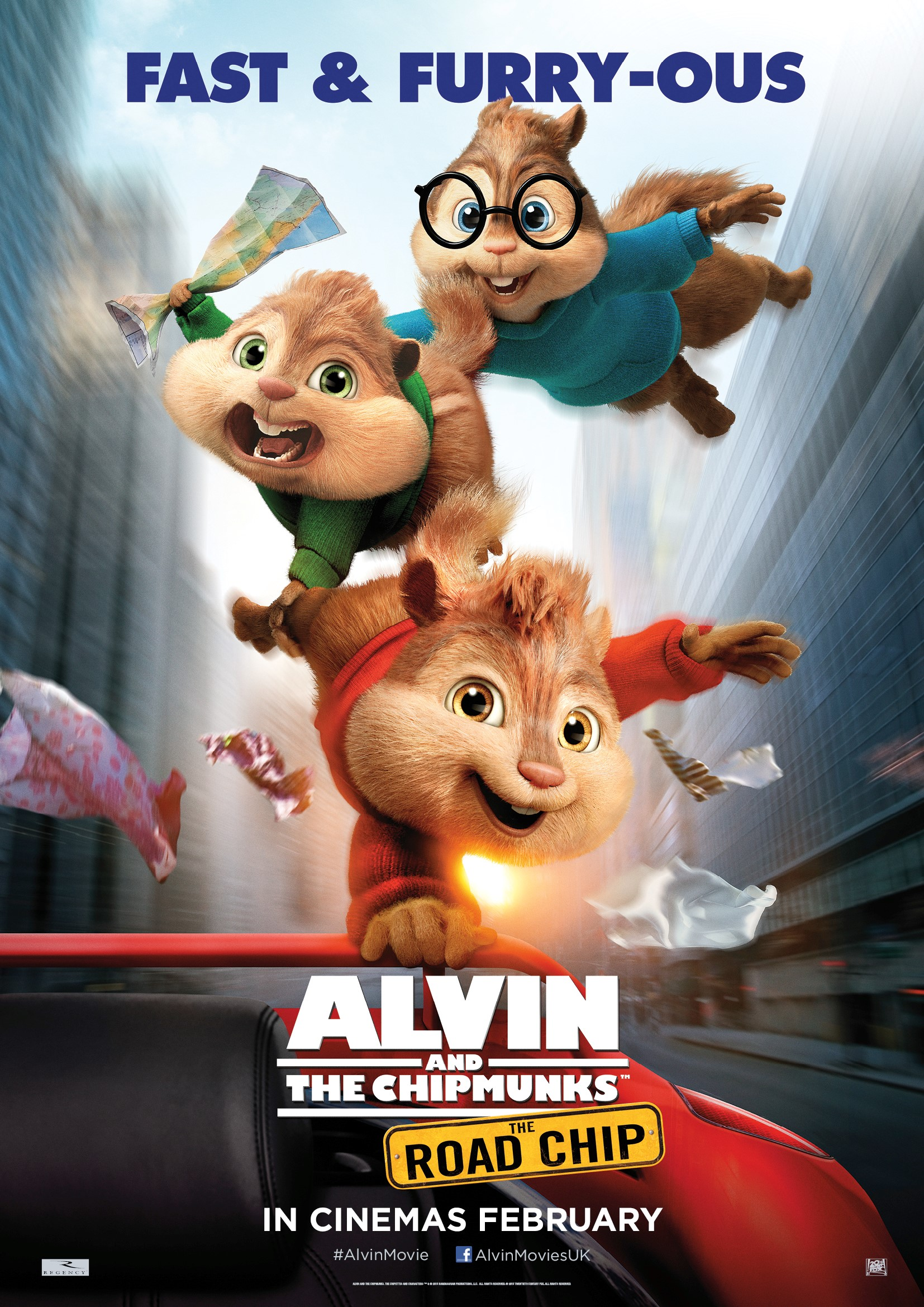Alvin and the Chipmunks The Road Chip Launch One Sheet