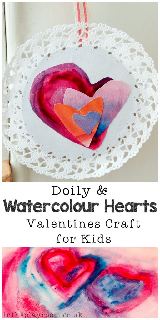 Watercolour & Doily Valentine Craft