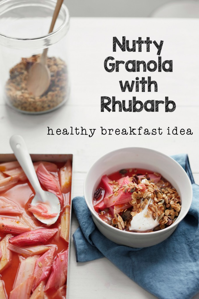 Nutty Granola with Rhubarb Healthy Breakfast Recipe