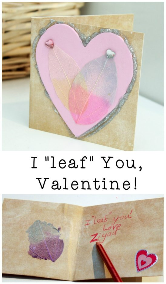 """I Leaf You"" Valentines Day Card"