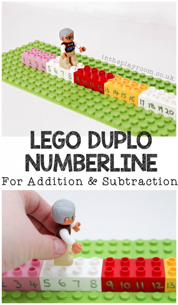 LEGO Duplo Number Line for Addition and Subtraction
