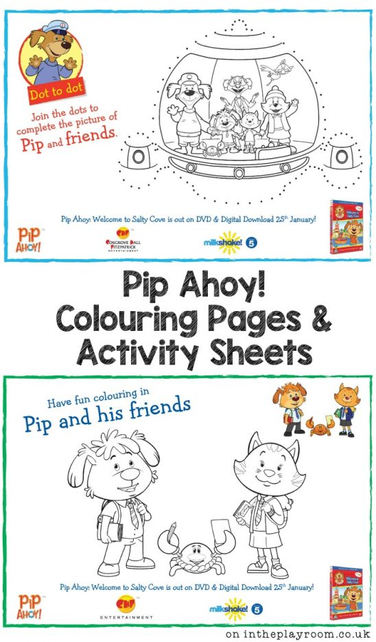 Pip Ahoy Colouring Pages and Activity Sheet Printables
