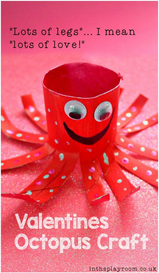 Valentine Octopus TP Roll Craft