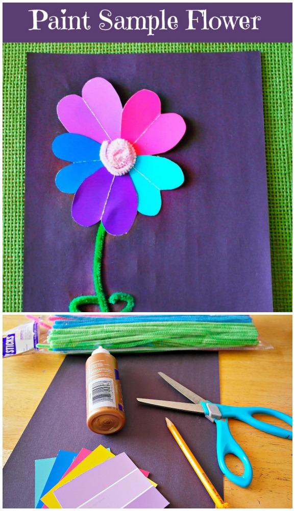 Paint Sample Flower Craft