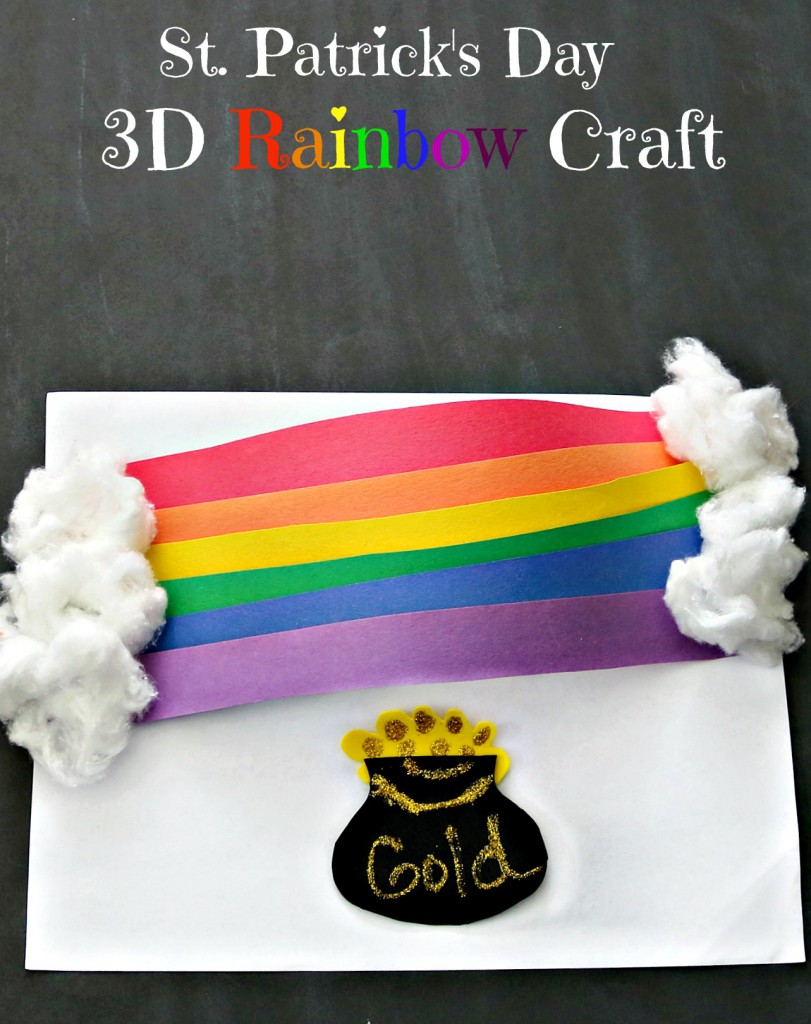 3D Rainbow Craft For St. Patrick's Day