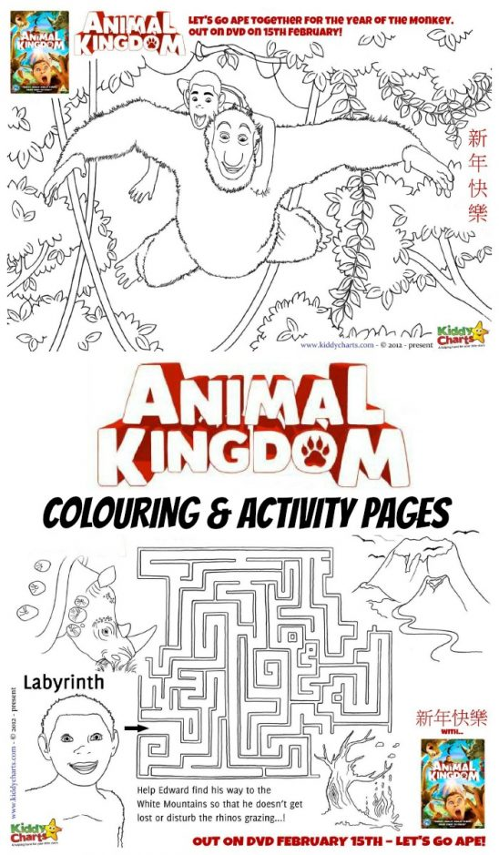 Animal Kingdom Colouring Pages and DVD Giveaway