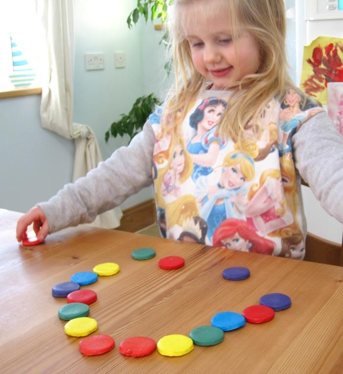 DIY Rainbow coloured disks