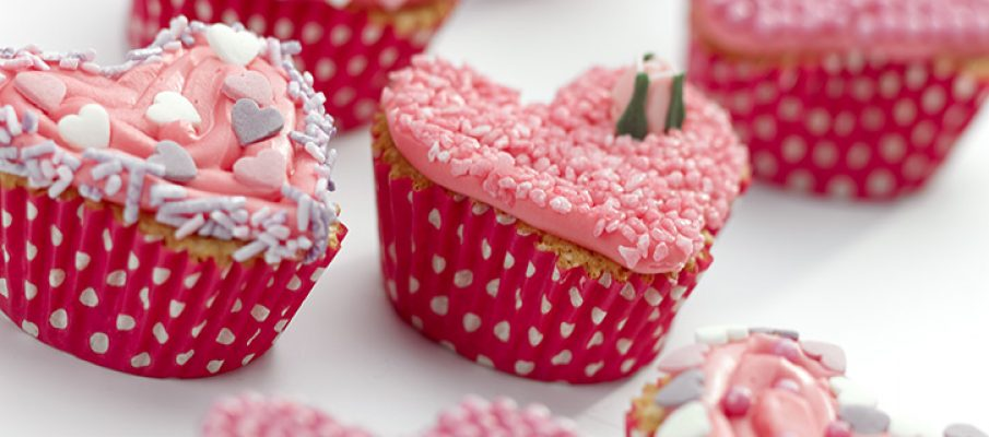 Heart Cup Cake Selection Cut Out