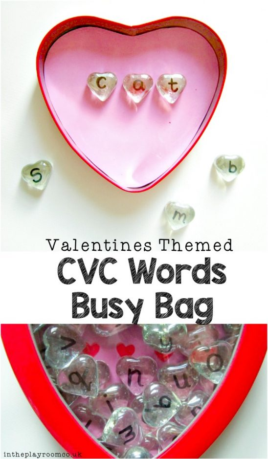 Valentine CVC Word Busy Bag