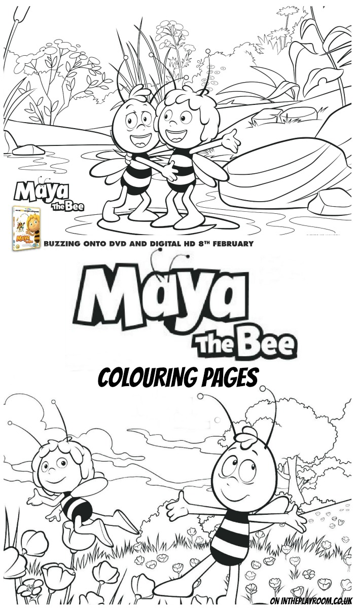 Maya the Bee Colouring Pages and Printable Mask