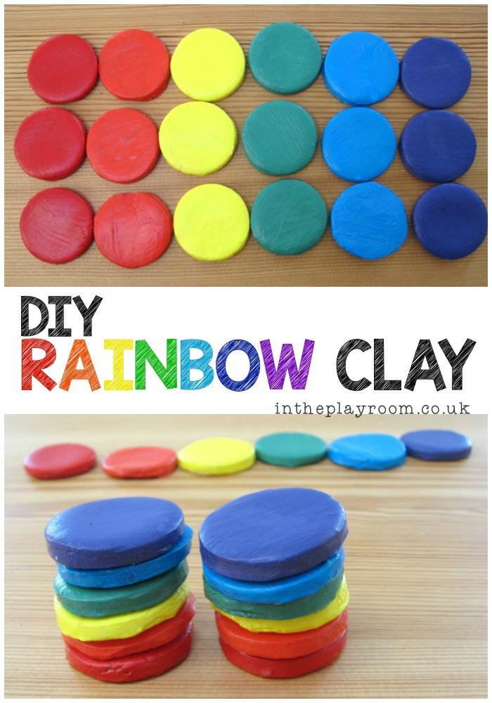 DIY Rainbow Clay Stackers