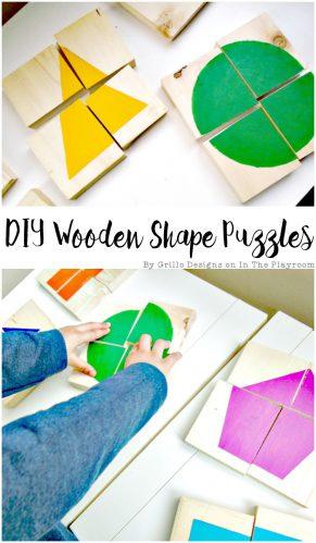 DIY Wooden Shape Puzzles