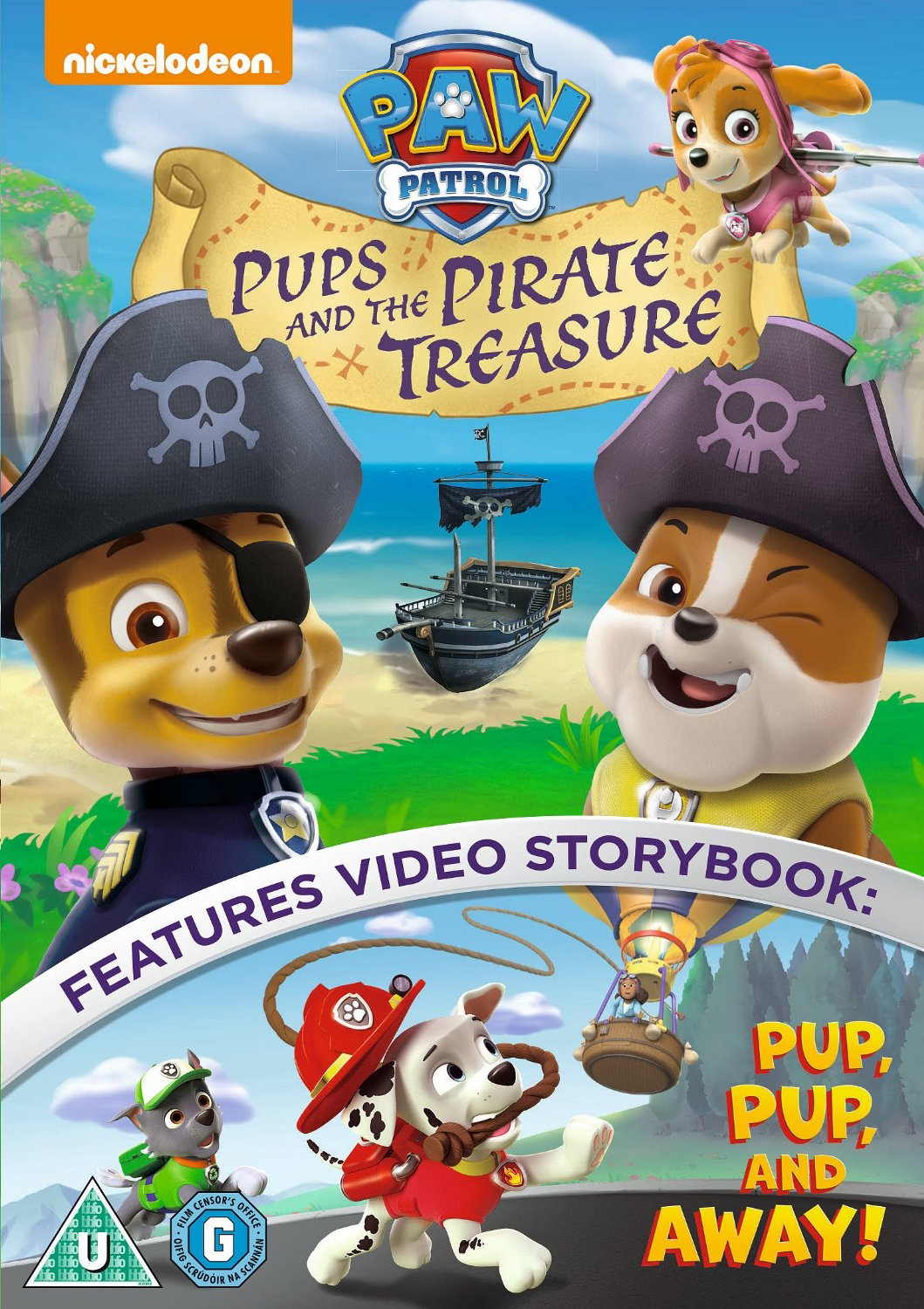 Paw Patrol Pups and the Pirate Treasure Colouring Page Printables and DVD Giveaway