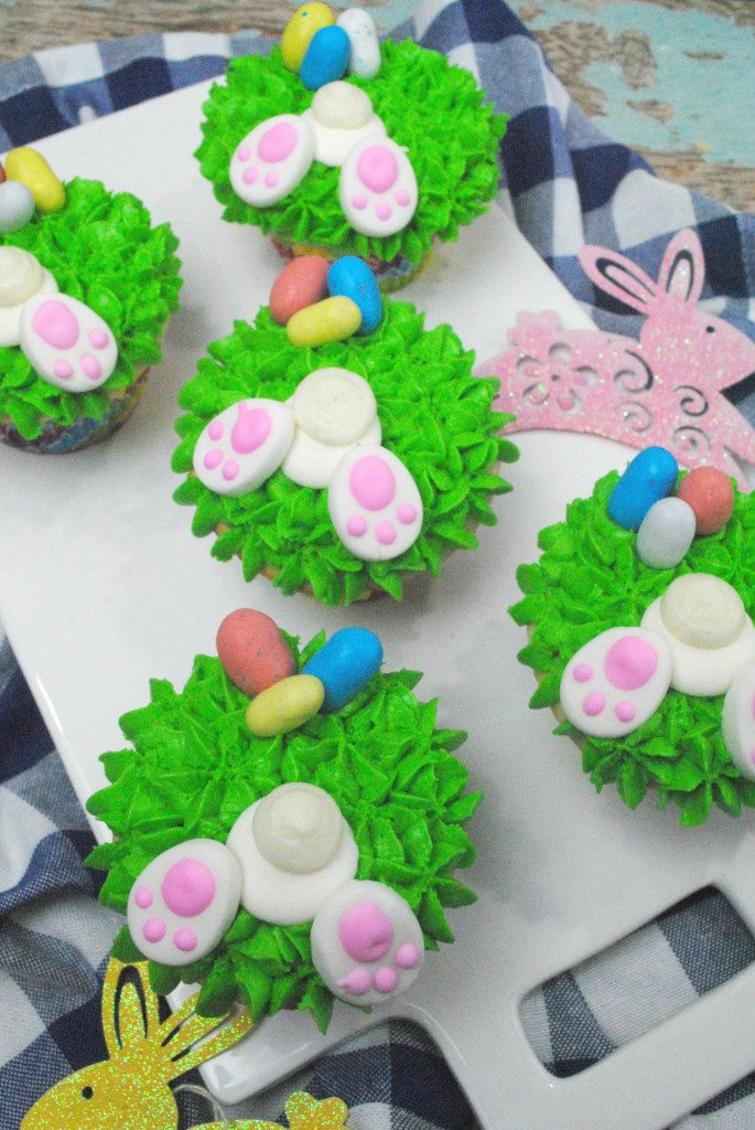 Bunny Tail and Easter Egg Cupcakes