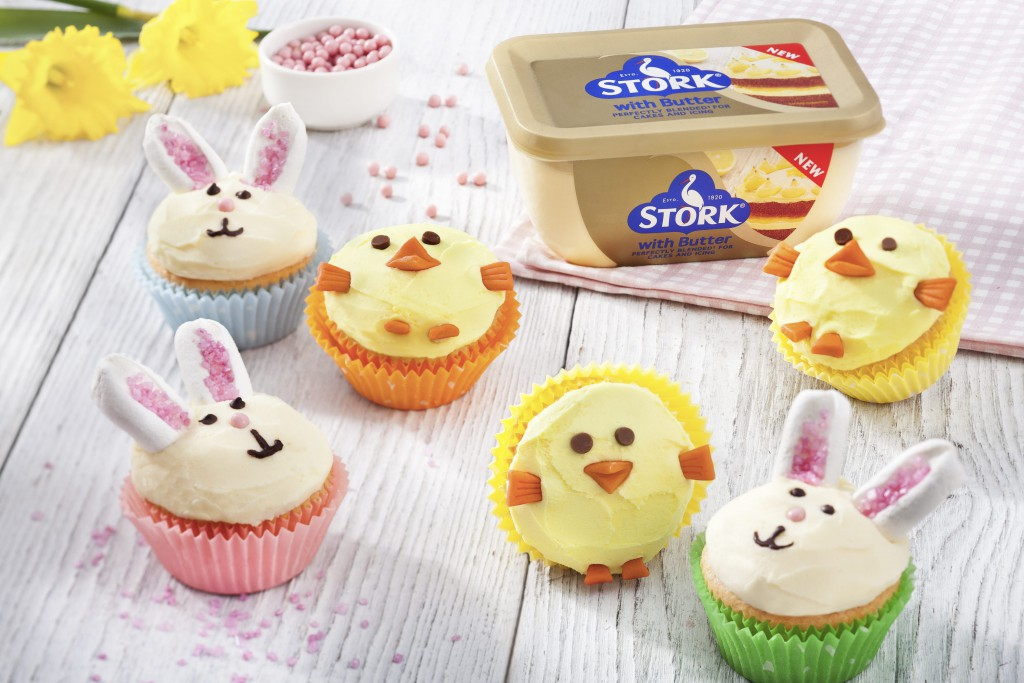 Easter Bunny & Chick Cupcakes