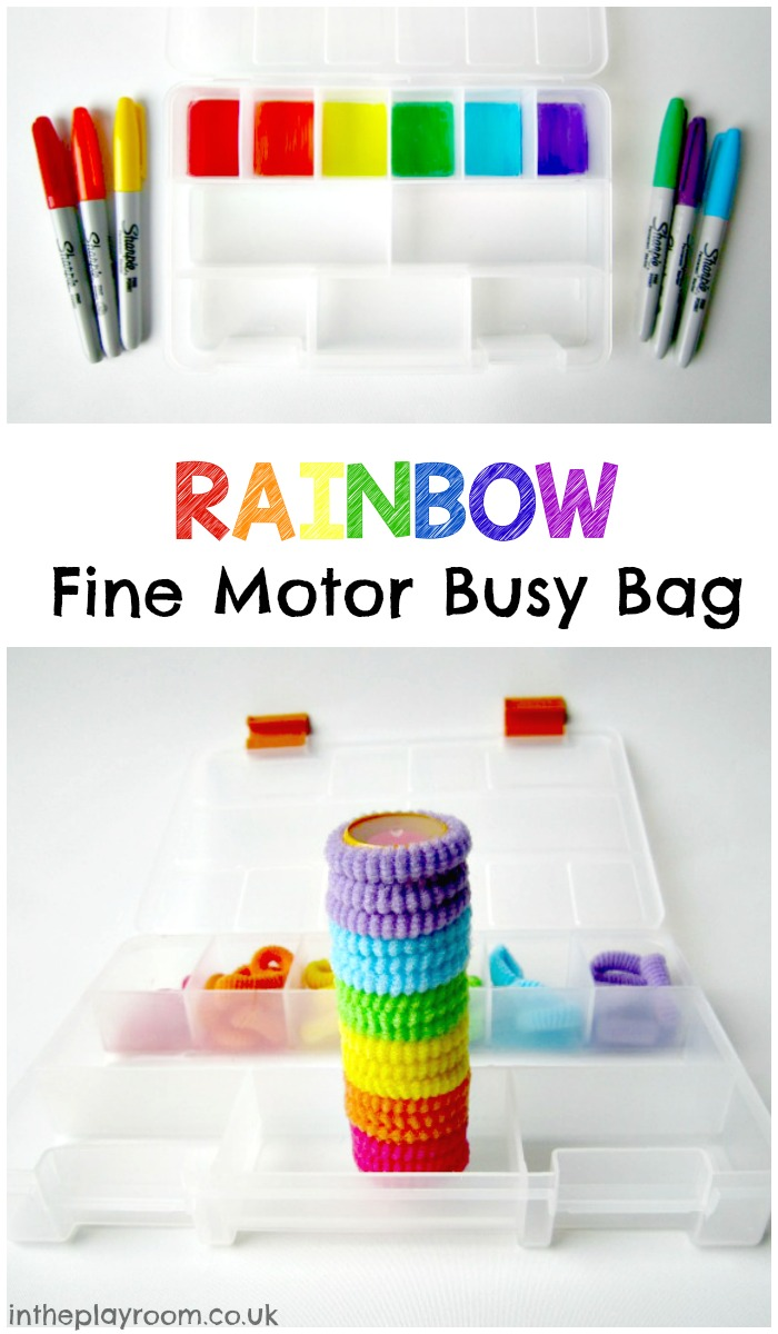 Rainbow Fine Motor Busy Bag In The Playroom