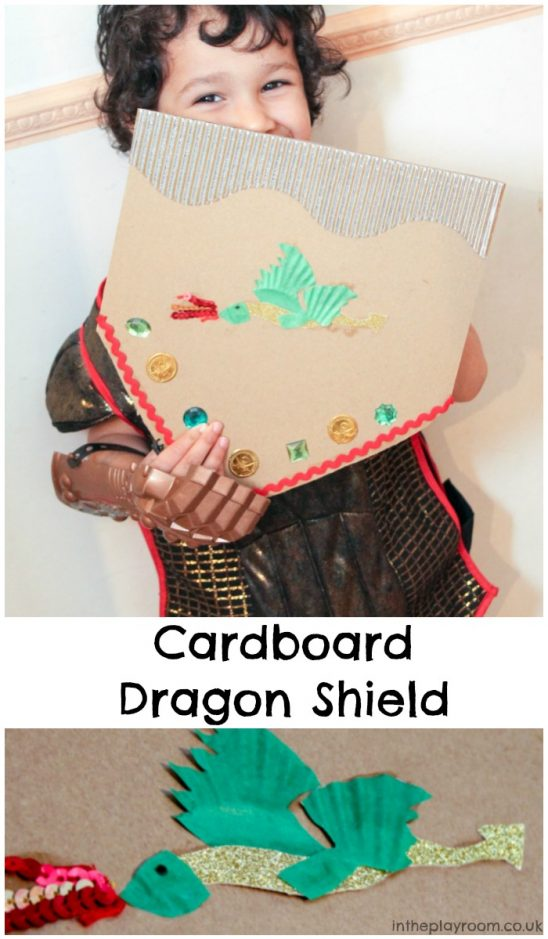 Cardboard Dragon Shield Craft