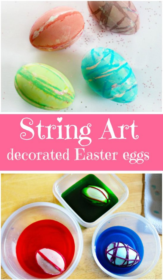 String Art Decorated Eggs