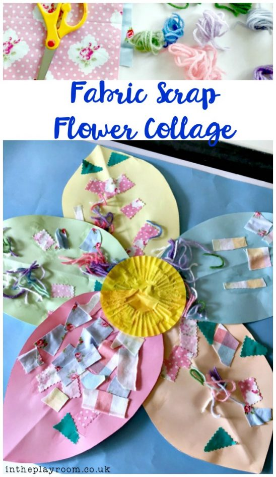 Fabric Scrap Flower Collage