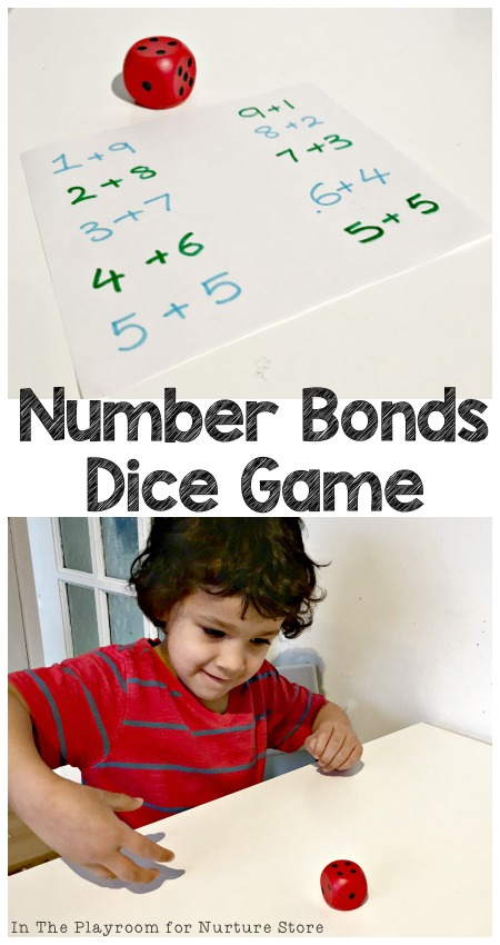 Number Bonds Game with Dice