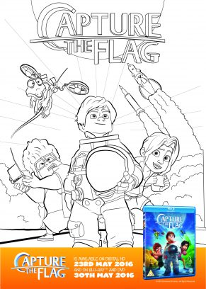Capture the Flag Space Colouring Sheet and Activity Printable